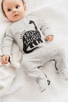 Little Bro-saurus Crew Sleepsuit (0-18mths)