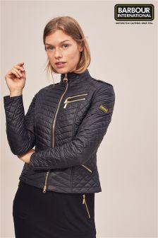 Barbour® International Black Quilted Jacket