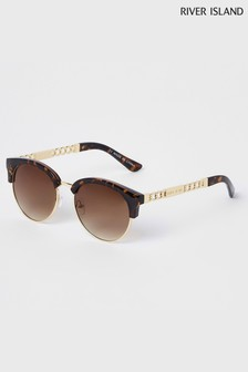 River Island Bevelled Edge Clubmaster Sunglasses