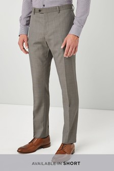 Slim Fit Wool Blend Suit: Trouser