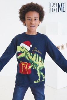 Kids Matching Family Dinosaur Crew Neck Jumper (3-16yrs)
