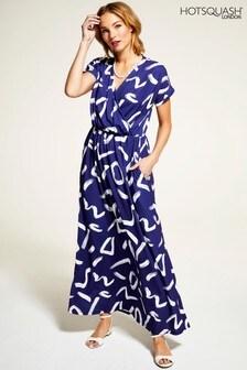 HotSquash Navy/White Maxi Dress