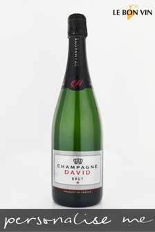 Personalised Silver Label Champagne Gift by Le Bon Vin