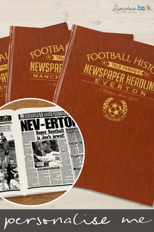 Personalised Football Newspaper Book by Signature Book Publishing