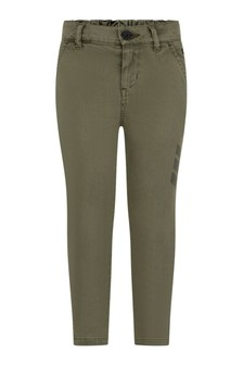 Boys Khaki Cotton Drill Trousers