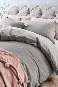 Multi Dot Pom Pom Duvet Cover and Pillowcase Set