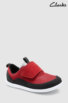 Clarks Red Black Play Spark Flexible First Trainer