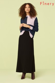 Finery London Rose Black Wrap Skirt