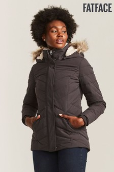 FatFace Black Laura Quilted Jacket