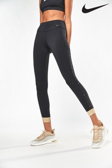 Nike Glam Dunk Black Metallic Cuff The One Leggings