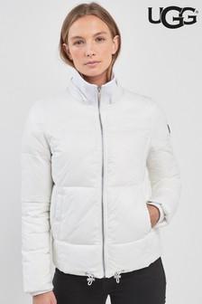UGG® Izzie White Nylon Padded Jacket
