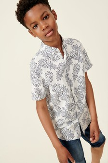 Short Sleeve Pineapple Print Shirt (3-16yrs)