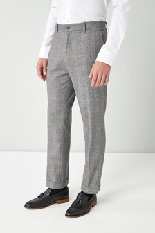 Brushed Check Slim Fit Trousers