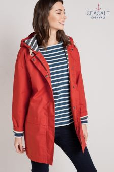Seasalt Red Tomato Square Sail Coat