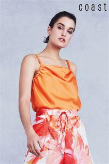 Coast Orange Carmen Top