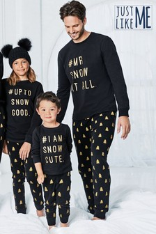 Matching Family kinderpyjama met tekst (0 mnd-8 jr)