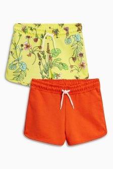 Комплект: 2 пары шорт с цветочным рисунком (3-16 лет)