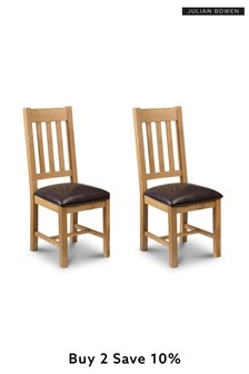 Set of 2 Astoria Dining Chairs by Julian Bowen