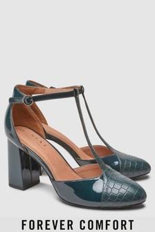 Chaussures style salomé à talons carrés