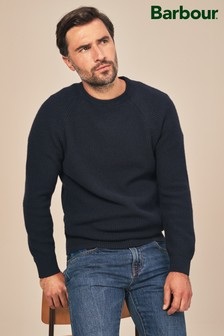 Barbour® Navy Manor Crew Jumper