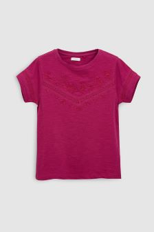 Lace Embroidered T-Shirt (3-16yrs)