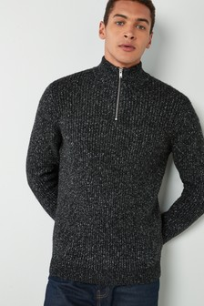 Yarn Interest Zip Neck