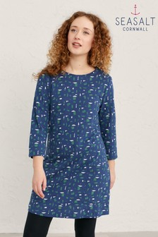 Seasalt Blue Collage Shapes Yacht Cape Cornwall Tunic