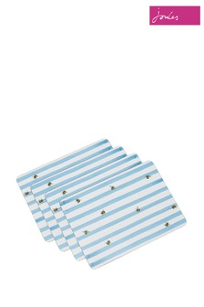 Set of 4 Joules Corkback Bee Striped Placemats