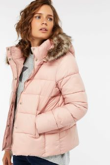 Monsoon Pink Emily Cosmetic Padded Coat