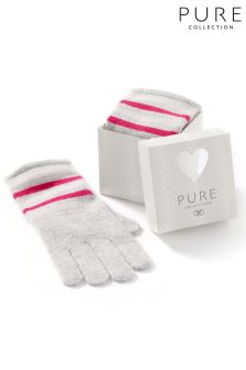 Pure Collection Pink Stripe Toccato Glove In A Box