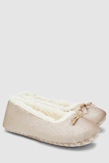闪粉芭蕾平底拖鞋