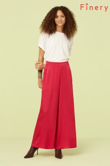 Finery London Pink Bright Ailie Satin Trouser