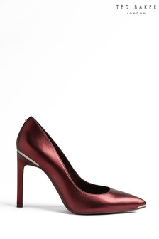 Ted Baker Red Metallic Court Shoes