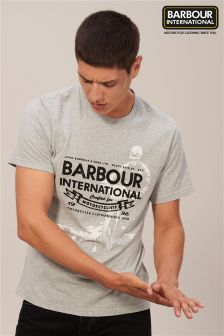 Barbour® International Grey Hydrometer Logo T-Shirt