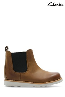 Clarks Tan Gusset Crown Halo First Ankle Boot