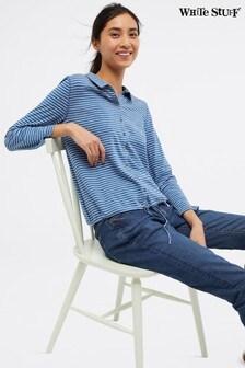 White Stuff Blue Sabrina Stripe Jersey Shirt