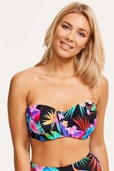 Figleaves Black Bora Bora Underwired Bandeau Bikini Top