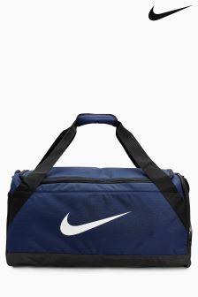 Nike Navy Brazillia Duffle Bag