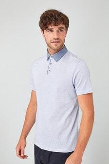Premium Woven Collar Polo
