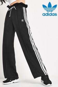 adidas Originals Black Paperbag Waist Wide Joggers