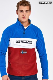 Napapijri Blue Colourblock Ted Fleece