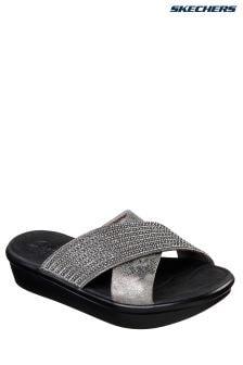 Skechers® Metallic Bumblers Summer Scorcher Pewter Rhinstone Sandal