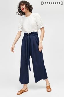 Warehouse Dark Wash Soft Culotte