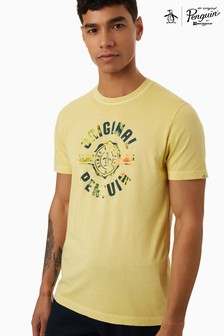 Original Penguin® Yellow Floral College T-Shirt