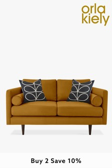 Orla Kiely Mimosa Small Sofa with Walnut Feet