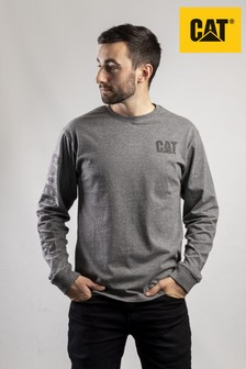 CAT® Grey Custom Banner T-Shirt