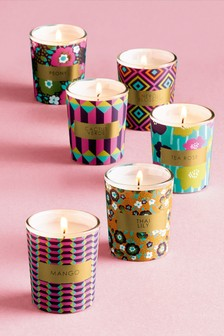 Set of 6 Floral Candles Gift Set