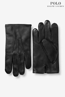 Polo Ralph Lauren Black Leather Gloves