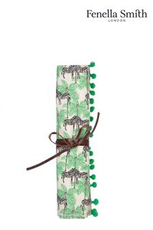 Fenella Smith Zebra And Palm Jewellery Roll