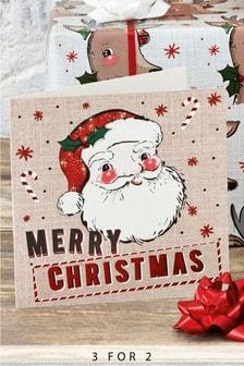 10 Pack Santa Christmas Cards